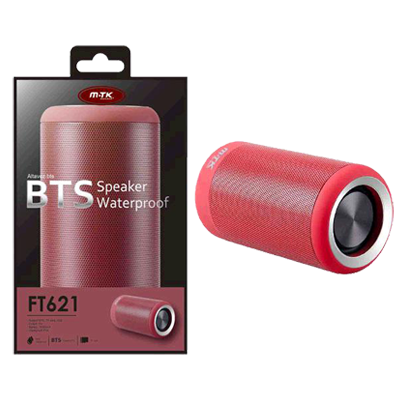 ALTAVOZ IMPERMEABLE KIKAS FT621 BLUETOOTH / SD / ROJO / FUNCION POWERBANK / MTK && INFORMATICA