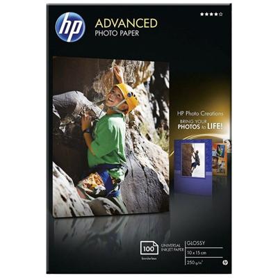 Pack 100 hojas Papel Fotográfico HP 10x15 cm Glossy Satinado 250g/m2